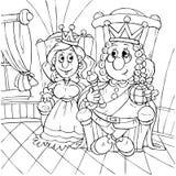 König und Prinzessin Stockbild