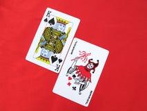 König und Spassvogel Stockfoto