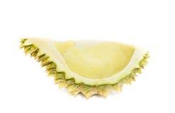 König von Früchten, Durian lokalisiert auf weißem Hintergrund Stockbild