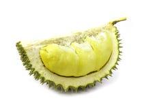 König von Früchten, langer Stiel des Durian, auf weißem Hintergrund Stockbild