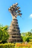 König von Nagas (7 Köpfe) bei Sala Keoku, der Park des riesigen Fantast Stockfotografie