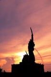 König von Nagas mit Sonnenuntergangansicht Lizenzfreie Stockfotografie