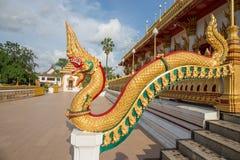 König von Nagas oder thailändische gloden Drachen Lizenzfreies Stockfoto