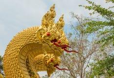 König von Nagas, Schlangenstatue Stockfotos