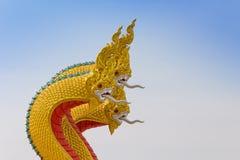 König von Nagas, Schlangenstatue Lizenzfreies Stockfoto