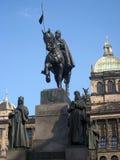 König Wenceslas Statue Lizenzfreies Stockbild