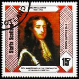 König William III, die Stuart-Könige, 25. Jahrestag der Krönung der Königin Elizabeth II, serie Staffa Schottland, circa 1978 lizenzfreies stockfoto