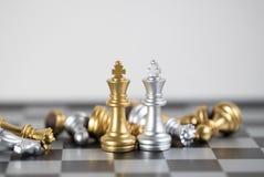 König zwei ist der Sieg in diesem Planspiel Lizenzfreie Stockbilder