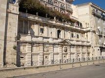 Königbrunnenmonument in Alfama-Bezirk, Lissabon Lizenzfreie Stockfotos