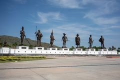 7 Könige Thailand-Denkmal, Rajabhakti-Park, Prachuap Khiri KH stockfotos
