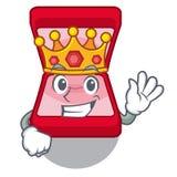 Königeheringkasten in der Charaktertasche stock abbildung