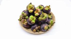 Königin der Frucht ist Mangostanfrucht lizenzfreie stockfotos