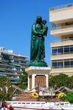 Königin der Seestatuette, Fuengirola, Spanien. Stockbild