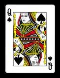 Königin der Spielkarte der Spaten, Lizenzfreie Stockfotos