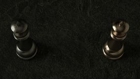 Königin des Schachs 3D auf dunklem Hintergrund Wiedergabe 3d Film- Beleuchtung lizenzfreie abbildung