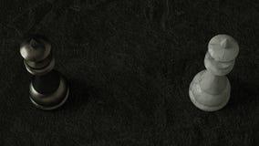 Königin des Schachs 3D auf dunklem Hintergrund Wiedergabe 3d Film- Beleuchtung vektor abbildung