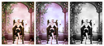 Königin des Traumlandes lizenzfreie abbildung