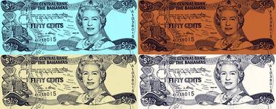 Königin Elizabeth II auf 50 Cents Lizenzfreies Stockfoto