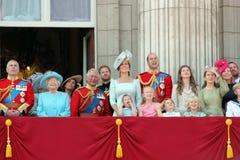Königin Elizabeth, London, Großbritannien, am 9. Juni 2018 - Meghan Markle, Prinz Harry, Prinz George William, Charles, Kate Midd lizenzfreie stockfotos