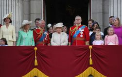 Queen Elizabeth, London uk,  8 June 2019- Queen Elizabeth  Trooping the colour Royal Family Buckingham Palace stock Press photo