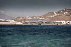 Königin Elizabeth in Mykonos lizenzfreies stockfoto