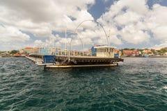 Königin Emma Bridge in Willemstad Curaçao Lizenzfreie Stockbilder