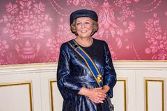 Königin Juliana der Niederlande, Wachsfigur, Madaame Tussauds Amsterdam lizenzfreies stockbild