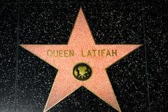 Königin Latifah Star auf dem Hollywood-Weg des Ruhmes lizenzfreies stockbild