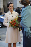 KÖNIGIN MARGRETHE UND ROYALS ARRIES AM PARLAMENT Stockfotos