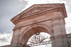 Königin ` s Tor, La Granja de San Ildefonso, Spanien Lizenzfreie Stockfotografie