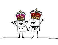 Königin u. König lizenzfreie abbildung