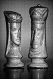 Königin und König Chess Pieces lizenzfreies stockfoto