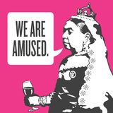 Königin Victoria We Are Amused Illustration vektor abbildung