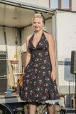 Königin von Herzen Chick Meet Lizenzfreies Stockbild