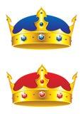Königkrone mit Edelsteinen lizenzfreie abbildung