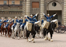 Königliche Abdeckungänderung, Stockholm Lizenzfreie Stockbilder