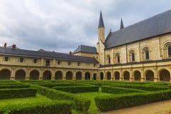 Königliche Abtei von Fontevraud Lizenzfreie Stockfotos