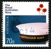 Königliche australische Marine-Briefmarke Lizenzfreies Stockfoto