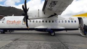 Königliche Bhutan-Fluglinien Stockfotos