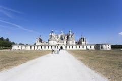 Königliche Chateau de Chambord bei Chambord stockfotos