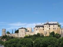 Königliche Chinon Festung, Frankreich. Stockbilder