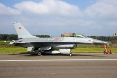 Königliche dänische Luftwaffe F16-Kampfflugzeugflugzeuge Lizenzfreie Stockbilder
