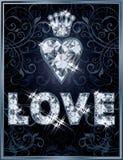 Königliche Diamantliebeskarte Stockfoto