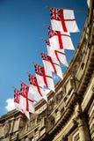 Königliche Fahnen-Flaggen stockfoto