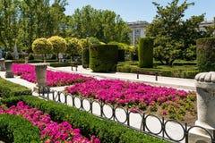 Königliche Gärten in Madrid Spanien lizenzfreies stockbild