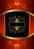 Königliche goldene Karte stock abbildung