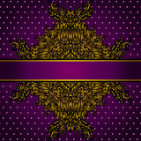 Königliche goldene Rahmen-Vektor-Illustration Stockfotos