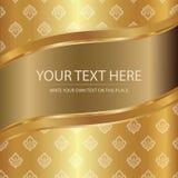 Königliche goldene thailändische Seide Lizenzfreies Stockbild