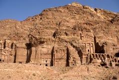 Königliche Gräber, PETRA, Jordanien Lizenzfreie Stockfotos