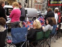 Königliche Hochzeit lockert London auf Stockbild